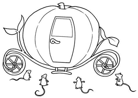 cenerentola zucca carrozza disegni da colorare per bambini