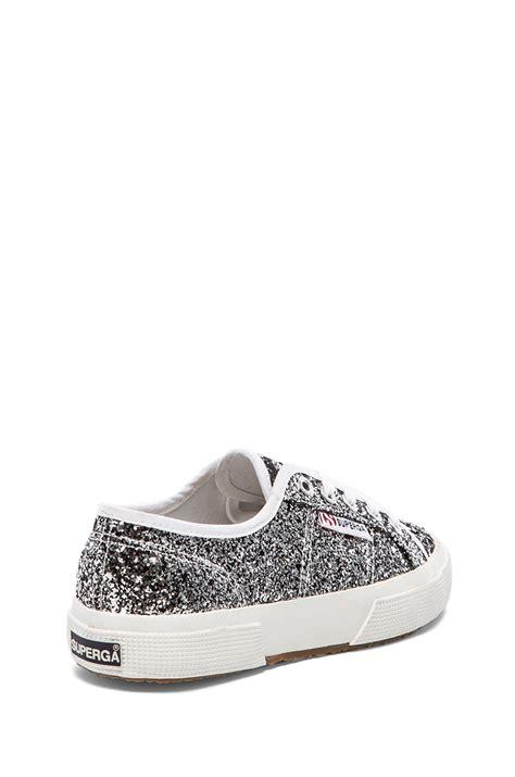 glitter sneakers lyst superga chunky glitter sneakers in metallic