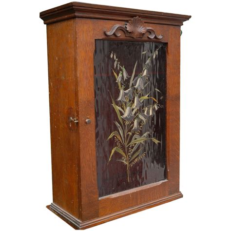 Wall Hanging Hutch French Art Nouveau Wall Hanging Cabinet Flowery Decor From