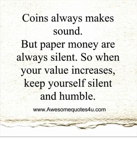 Who Makes Paper Money - coins always makes sound but paper money are always silent
