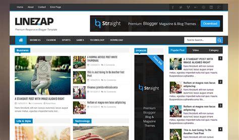 blog layout responsive linezap template full version premium themexpose