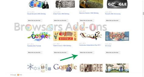 how to use favourite doodle browsers addon