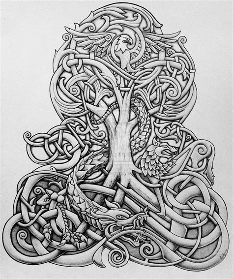 yggdrasil tattoo yggdrasil on norse mythology tree of and