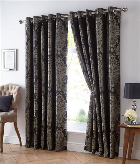 Blue And Gold Curtains Eyelet Style Lined Curtains Blue Gold Gold Black Gold Jacquard Ebay