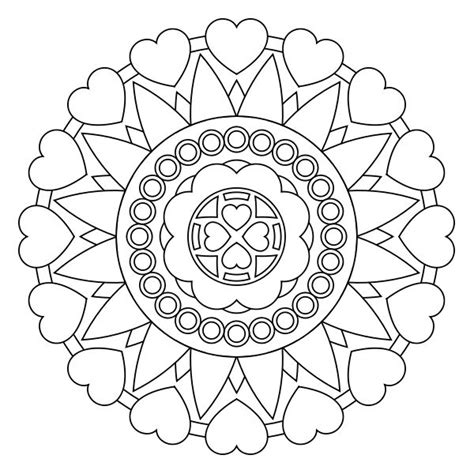 mandala coloring pages hearts free printable mandala coloring pages ideas for the