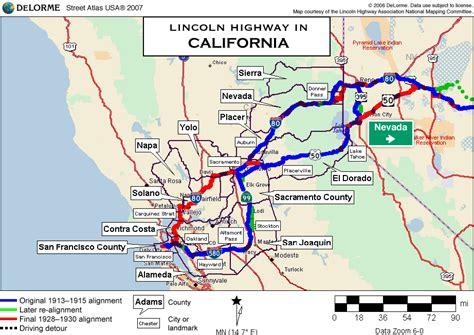 lincoln california map