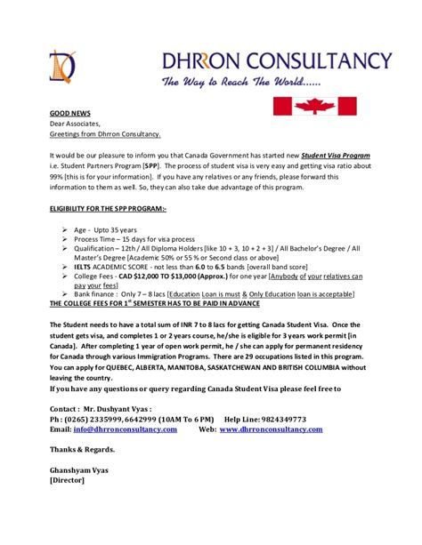 Offer Letter College Spp College List Canada