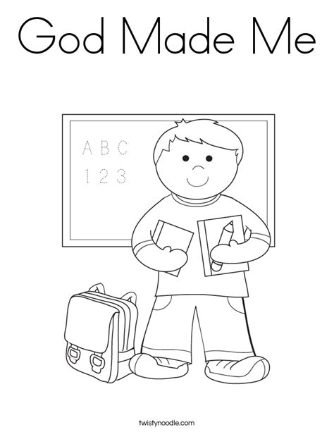 god made me coloring page az coloring pages