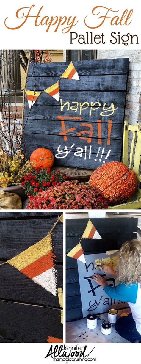 painting pallet tips and ideas another painted fall pallet project happy fall y all