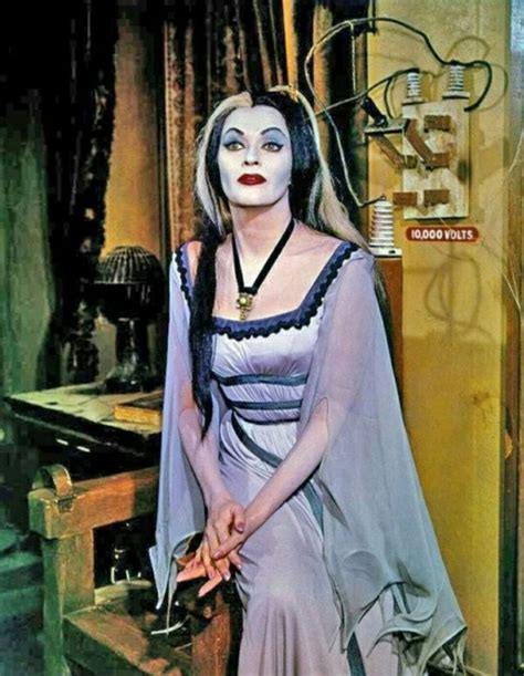 the munsters in color amazing color photos of yvonne de carlo as munster in
