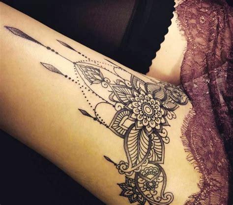 tattoo mandala bein tattoo am oberschenkel mandala bein tattoo tattoo