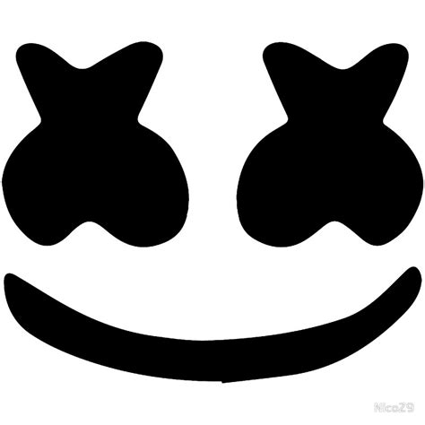 marshmello eyes quot marshmello face quot stickers by nicoz9 redbubble