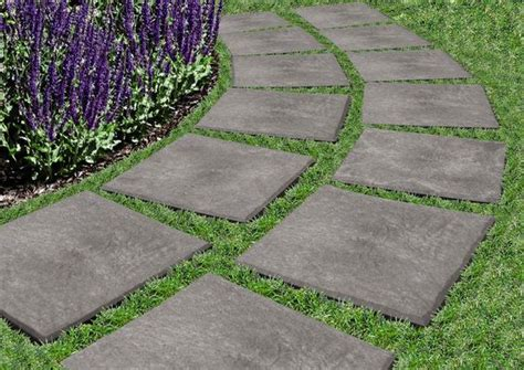 patio pavers recycled rubber new recycled rubber pavers drop and stomp your way to a path the fastest and easiest