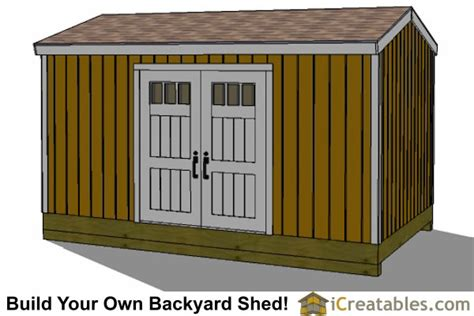 gable shed plans  taller walls