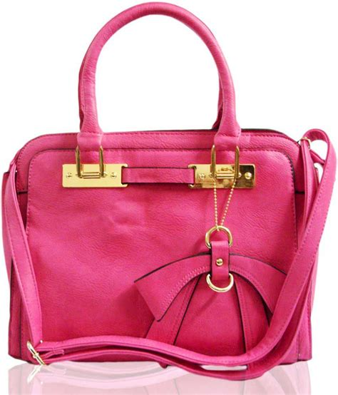 Tas Handbag Chic Pink buy chic pink bow handbag at best prices in india snapdeal