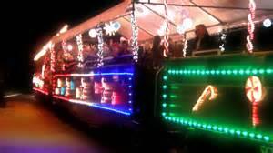 roaring c holiday lights train roaring camp railroads 2014 holiday lights train youtube