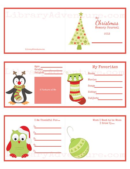 printable christmas journal my christmas memory journal a printable ornament for kids