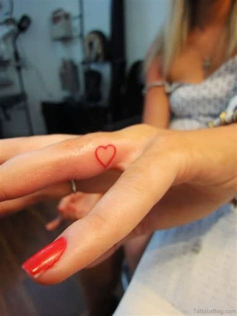 heart tattoo on finger 59 small tattoos on finger