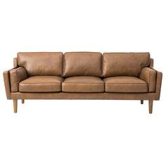 beatnik oxford leather tan sofa to minimize the visual weight of a leather sofa pair it