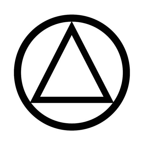aa sobriety circle and triangle temporary tattoo recovery