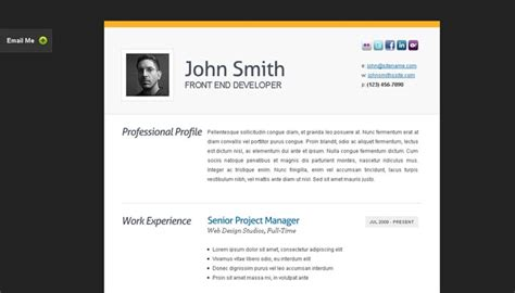 design a html page to display your cv 20 creative resume website templates to improve your