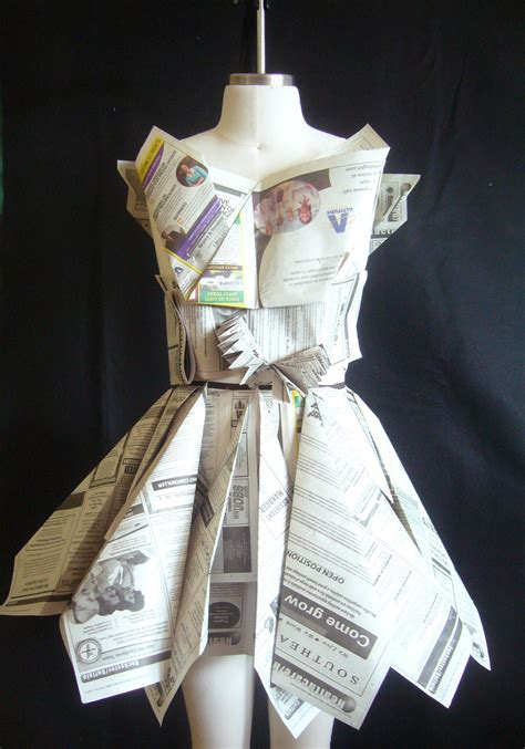 Clothes Out Of Paper - newspaper dress vmcfashion