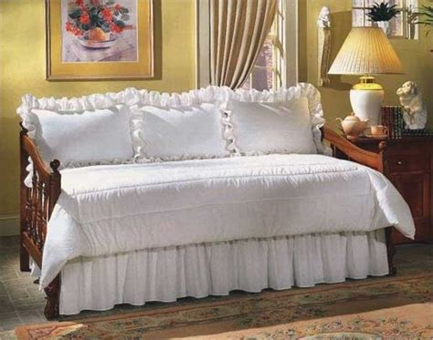 Day Bedding Sets 300 Thread Count Solid Color Daybed Set 5 Ruffled Made In The Usa Blanket Warehouse