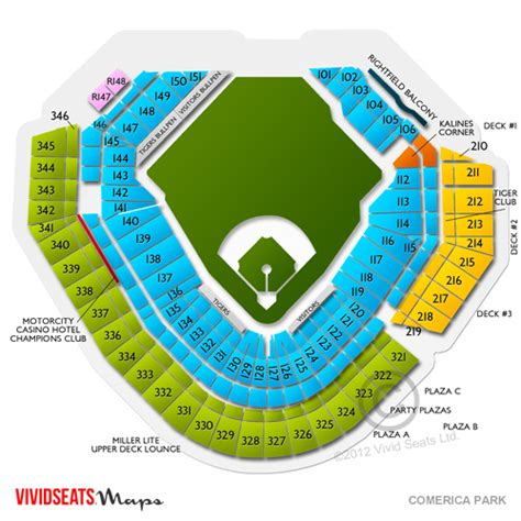 comerica park seating sections comerica park tickets maps and seating charts for