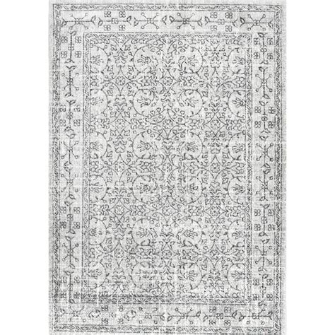 10 X 10 Area Rugs Nuloom Vintage Waddell Grey 7 Ft 10 In X 10 Ft 10 In Area Rug Rzbd22b 71001010 The Home Depot