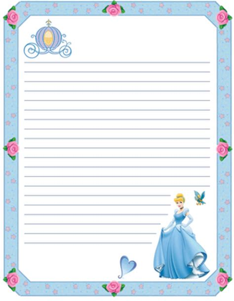 printable disney journal pages princess coloring pages printable stationary pinterest