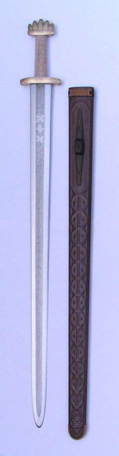 pattern welding bronze saxon sword pommel detail pattern welded blade cloisonne