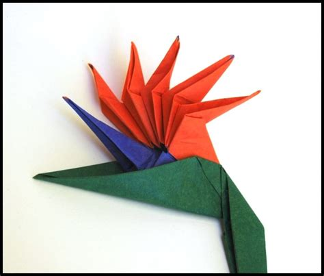 Origami Bird Of Paradise Flower - my single sheet designs