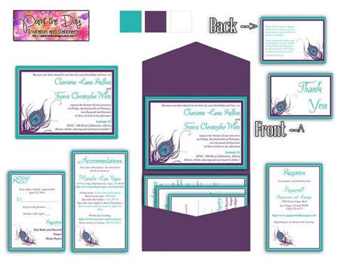 wedding invitation inserts template wedding pocketfold invitation template instant