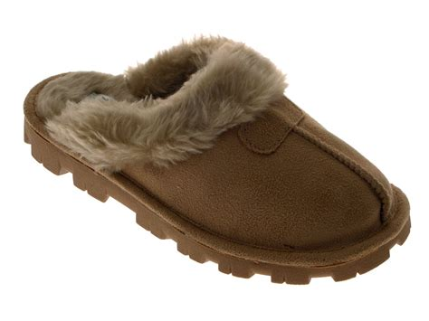 mules slippers womens slippers mules slip on warm faux sheepskin
