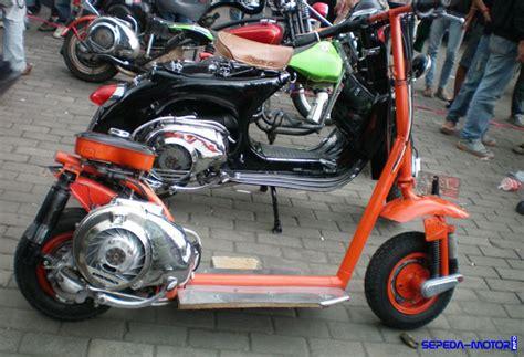 Modifikasi Vespa Model Harley by Vespa Otopet Modifikasi Terbaru Skuter Asal Italia Info