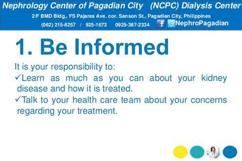 Dialysis Responsibilities by Dialysis Patients Responsibilities