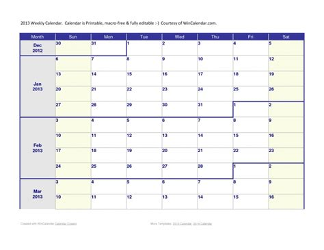Three Month Calendar Template : Free Calendar Template