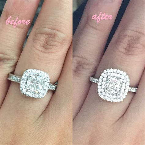 Show me your ring before and after resetting your stone!