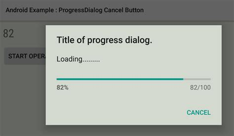 cancel android how to set cancel button in a progressdialog in android