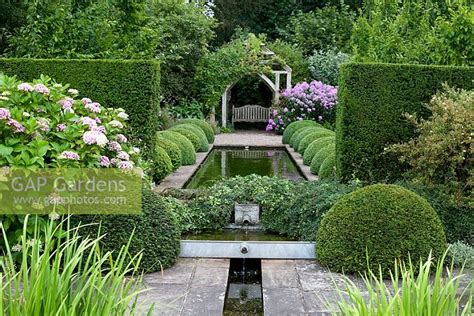 gap gardens formal garden with pond borders of