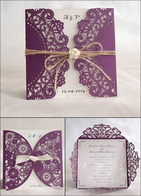 Of The Best Laser Cut  Ee  Wedding Ee   Invitations