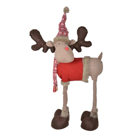 indoor reindeer decorations 4 legged reindeer indoor standing decoration