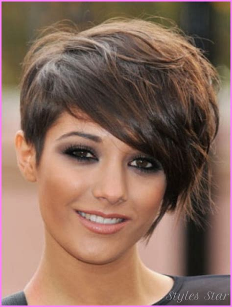 hairstyles 2017 for round faces short haircuts 2017 round face stylesstar com