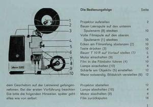 Bauer T 10l Bauer T 10r Bauer Projektor T10l T10r