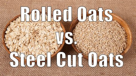 The Difference Between Steel Cut Old Fashioned Quick - rolled oats vs steel cut oats youtube