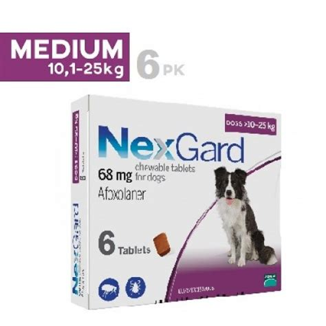 nexgard for dogs 4 10 lbs nexgard chews for medium dogs 10 25kg 24 1 60lbs 6 pack ourpetworld net