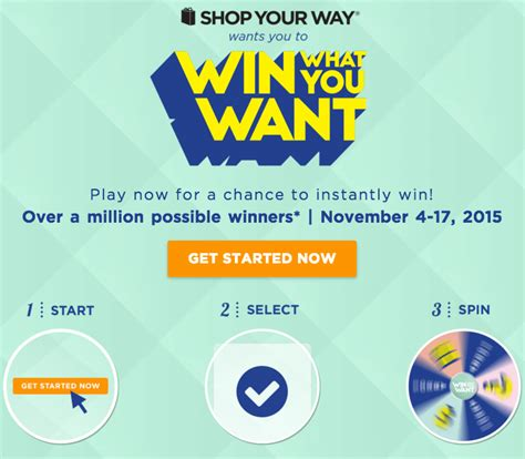 Shop Your Way Sweepstakes - shop your way quot win what you want quot sweepstakes the pennywisemama