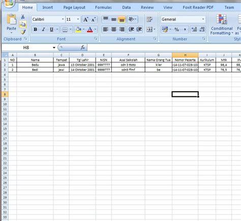 format daftar hadir pns xlsx file aplikasi surat kelulusan siswa dengan mail