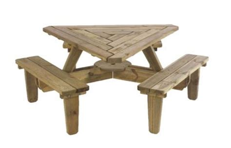 triangle shape counter height table d 876 triangle picnic table varios hogar pinterest