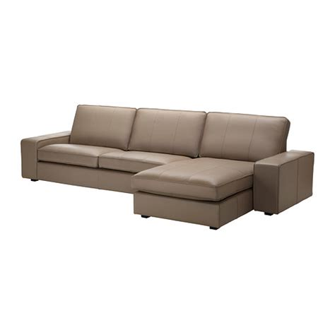 Kivik Sofa And Chaise Lounge Grann Bomstad Beige Ikea